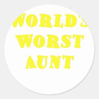 Worlds Worst Aunt Sticker