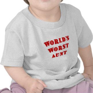Worlds Worst Aunt Tshirts