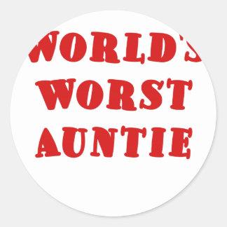 Worlds Worst Auntie Stickers