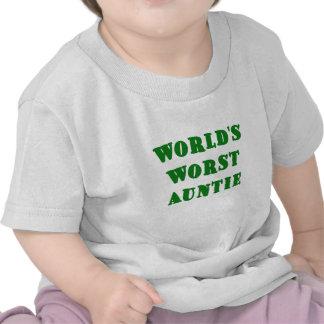 Worlds Worst Auntie Tee Shirts