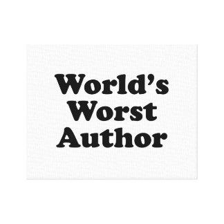 World's Worst Author Canvas Print