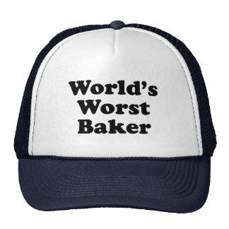 World's Worst Baker Trucker Hat