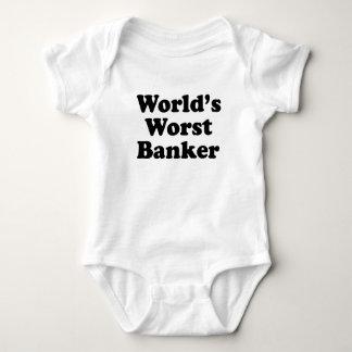 World's Worst Banker Baby Bodysuit