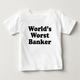 World's Worst Banker Baby T-Shirt