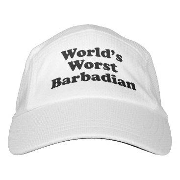 Beach Themed World's Worst Barbadian Headsweats Hat