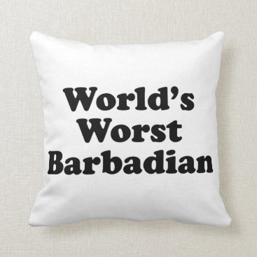 Beach Themed World's Worst Barbadian Throw Pillow
