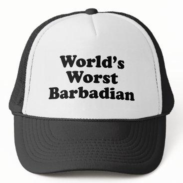 Beach Themed World's Worst Barbadian Trucker Hat