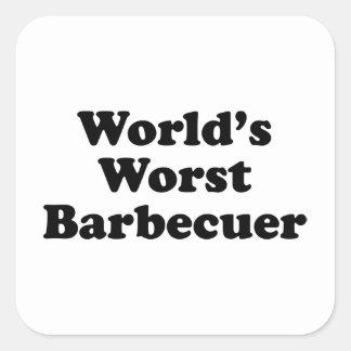 World's Worst Barbecuer Square Sticker