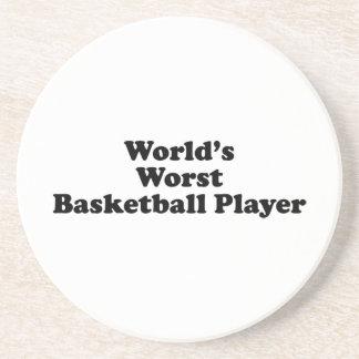World's Worst Basketball Player Coasters