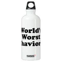 World's Worst Behaviorist Aluminum Water Bottle