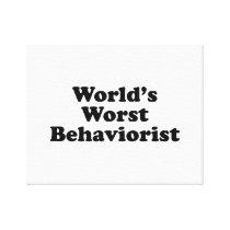 World's Worst Behaviorist Canvas Print