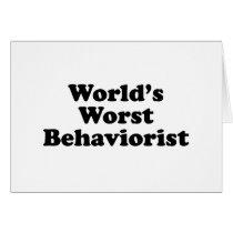 World's Worst Behaviorist Card