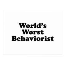 World's Worst Behaviorist Postcard