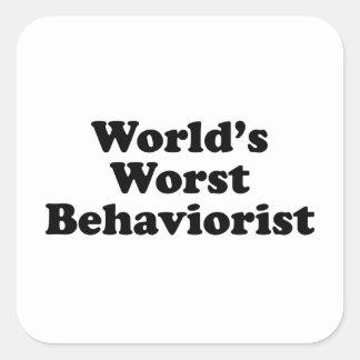 World's Worst Behaviorist Square Sticker