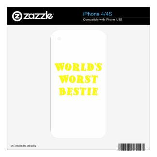 Worlds Worst Bestie iPhone 4S Decal