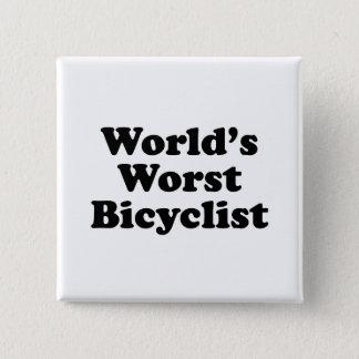World's Worst Bicyclist Button