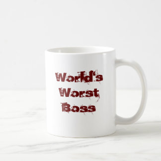 World's Worst Boss Coffee Mug