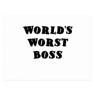 Worlds Worst Boss Postcard