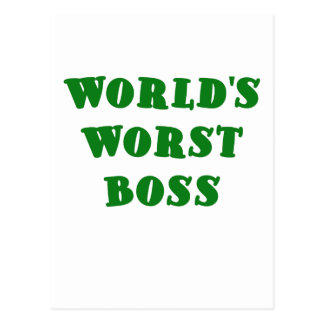 Worlds Worst Boss Post Cards