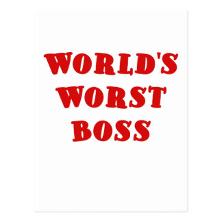 Worlds Worst Boss Postcards