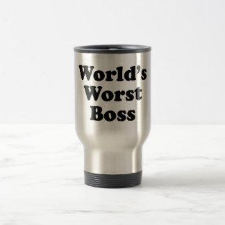 World's Worst Boss Travel Mug
