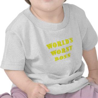 Worlds Worst Boss Tee Shirts