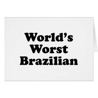 World's Worst Brazilan Card