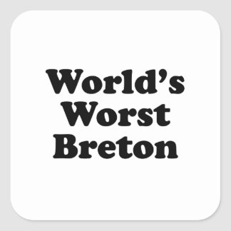 World's Worst Breton Square Sticker