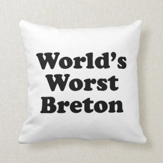 World's Worst Breton Throw Pillow