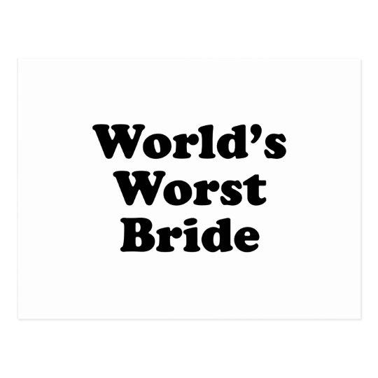 World's Worst Bride Postcard