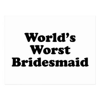 World's Worst Bridesmaid Postcard