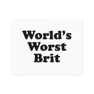 World's Worst Brit Canvas Print