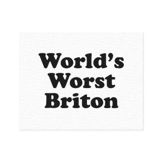 world's Worst Briton Canvas Print