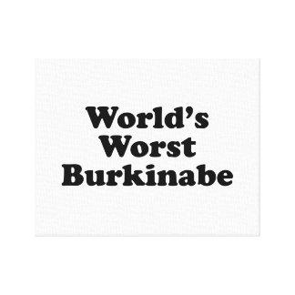 World's Worst Burkinabe Canvas Print