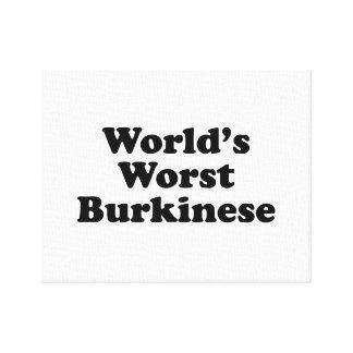 World's Worst Burkinese Canvas Print