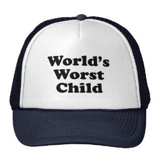 World's Worst Child Mesh Hats