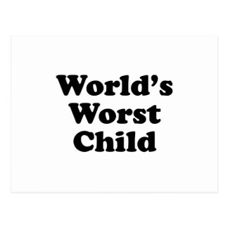 World's Worst Child Postcard