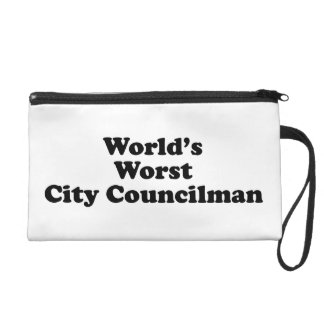 World's Worst City Councilman Wristlet Purse
