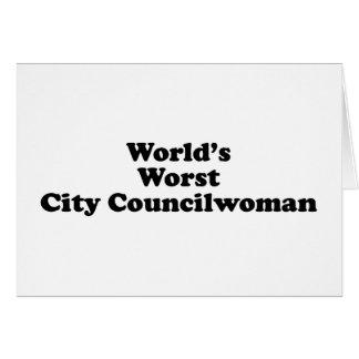 World's Worst City Councilwoman Card