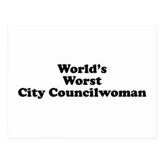 World's Worst City Councilwoman Postcard