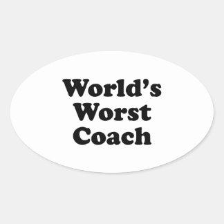 World's Worst Coach Oval Sticker
