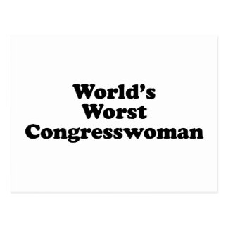 World's Worst Congresswoman Postcard