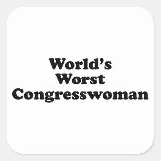 World's Worst Congresswoman Square Sticker