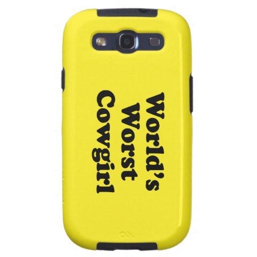 World's Worst Cowgirl Galaxy S3 Case