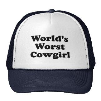 World's Worst Cowgirl Trucker Hat