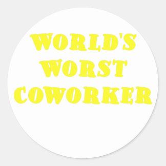 Worlds Worst Coworker Classic Round Sticker