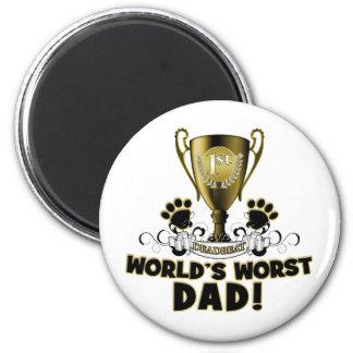 World's Worst Dad 2 Inch Round Magnet