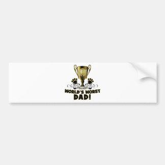 World's Worst Dad Bumper Sticker