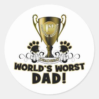 World's Worst Dad Classic Round Sticker