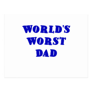Worlds Worst Dad Postcard